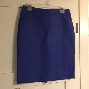 J.Crew Blue No. 2 Pencil Skirt